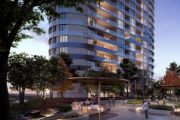 Residents of new Gungahlin towers will relax in a 20-metre high infinity pool