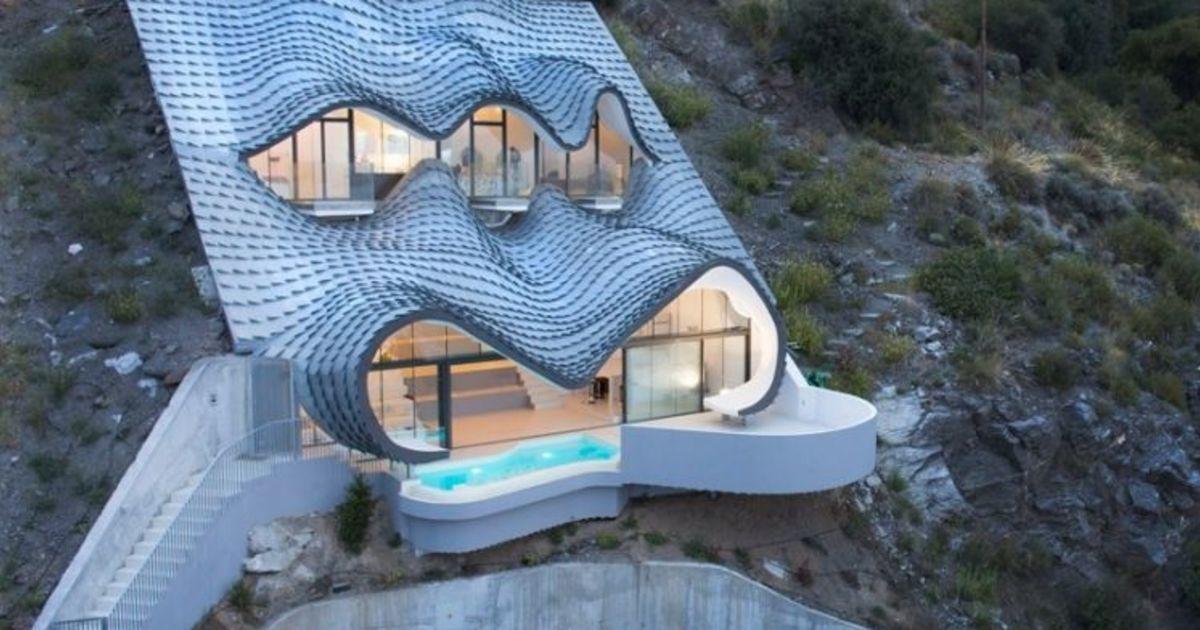 Gilbartolome Architects Build Gaudiesque Home Into A Cliffside