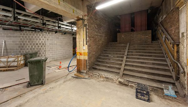 Hidden stairs revealed at Wynyard Station after more than 50 years
