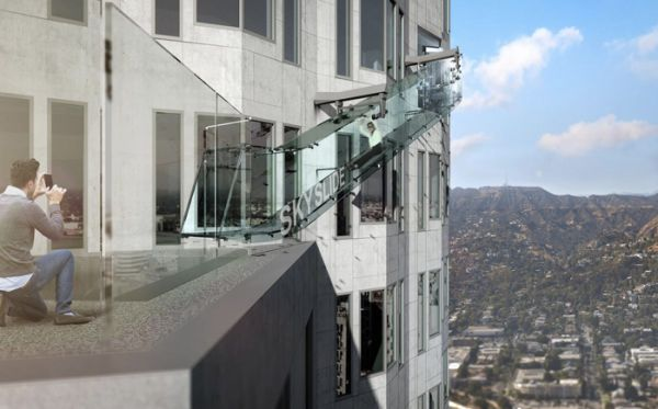 Skyslide is coming: Glass slide will be attached to top of LA skyscraper