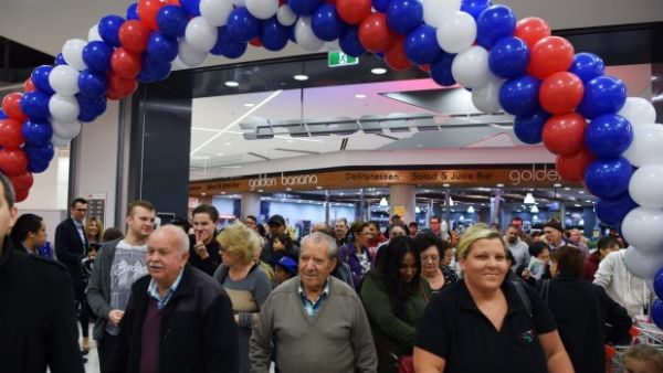 Top Ryde Kmart store opening - and Woolworths goodies - attract early morning crowd