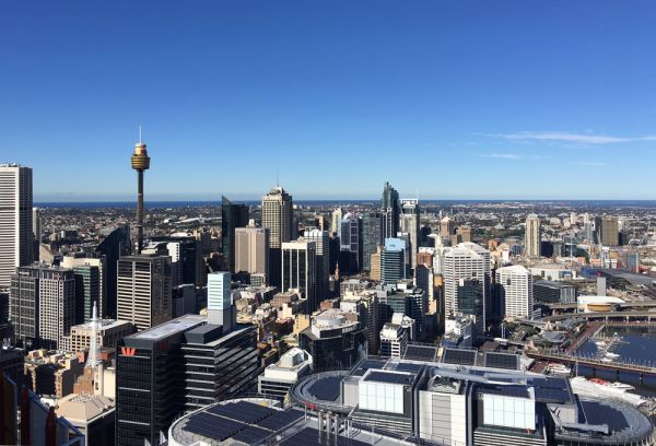 Barangaroo milestone: First look from the top of Australia
