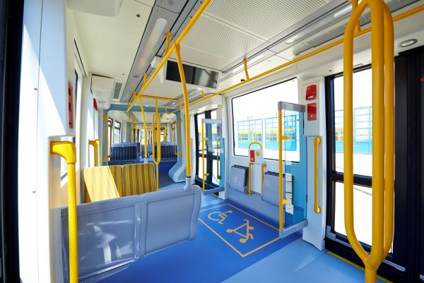 Why public transport has such brightly-coloured seats