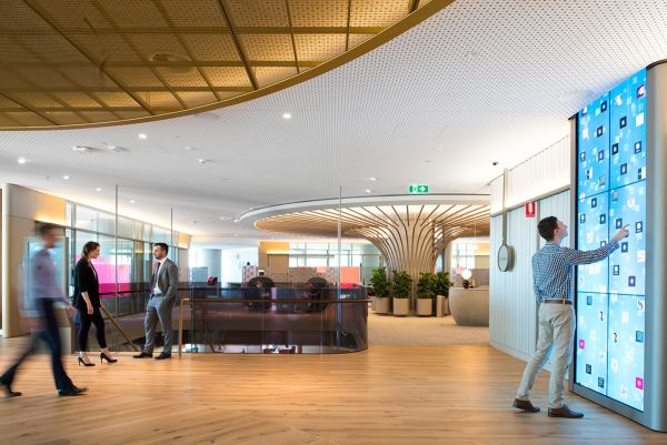 PwC installs a giant digital waterfall in its Barangaroo offices
