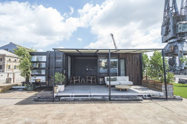 Pop-up shipping-container hotel opens on Sydney