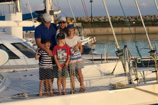 Never a dull moment': The family living on a boat in the