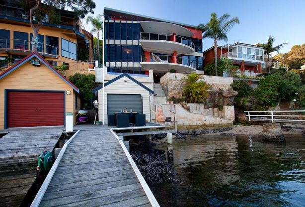 The waterfront home<br /> of scientist Lars<br /> Rasmussen in Bligh<br /> Crescent, Seaforth.