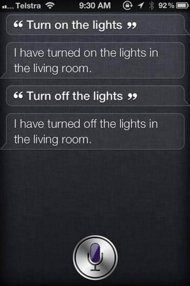 Siri hacked to automate home