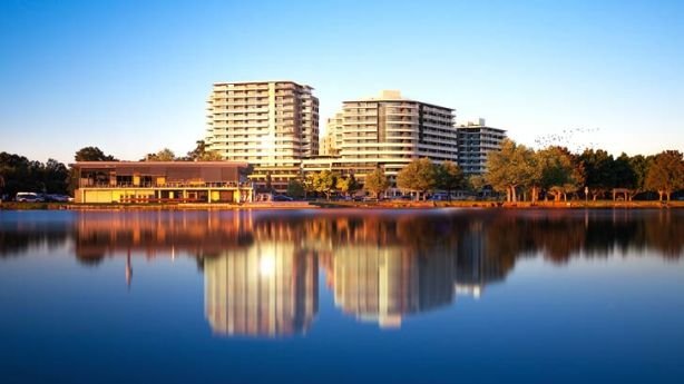Grand  plans: Artist impressions of Southbank at Wolli Creek and the shops that will enhance foreshore community living.
