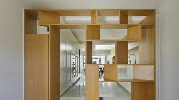 Clever cabinetry: The architects transformed the limited space in a skinny old Paddington terrace. Photo:  Peter Bennetts