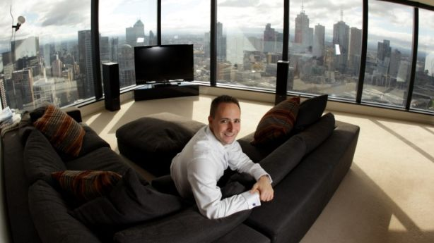 At Home Web Entrepreneur Mathew Care Poses For A Photo In His Eureka Tower Apartment