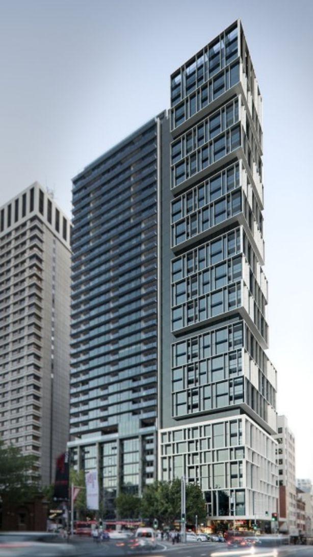 An artist's impression of the winning design by Bates Smart for 130 Elizabeth Street, opposite Hyde Park. Photo: domain.com.au