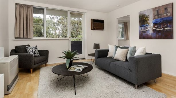 Opposite Royal Park and within walking distance to the train station, this two-bedroom apartment at 1/841 Park Street in Brunswick is going to auction for $400,000-$440,000. Photo: Supplied