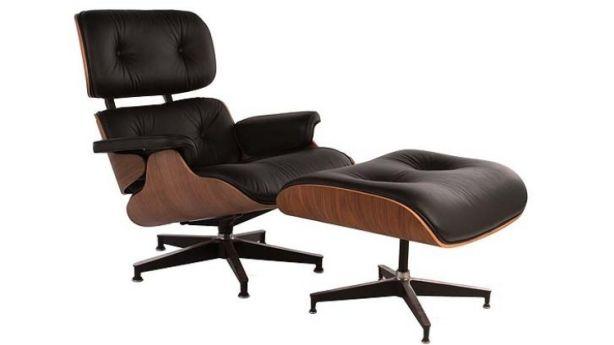 The Matt Blatt replica Eames lounge chair and ottoman. Photo: mattblatt.com.au