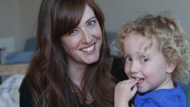 Laura Jackel and her son Toby. Photo: Danielle Smith