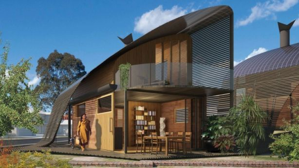 Artist and designer Mathieu Gallois hopes to transform a McMansion into four sustainable homes. Photo: Supplied