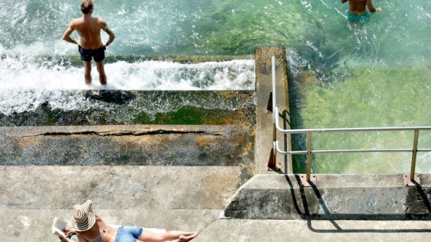 Soak up the sun at Bondi Beach ocean baths. Photo: Steven Siewert
