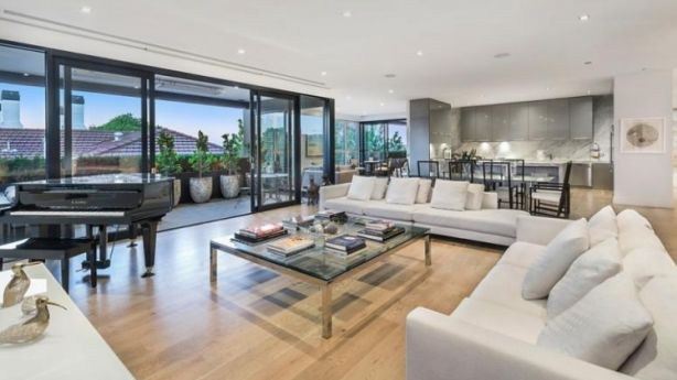 The apartment in the leafy Royal Botanic Gardens precinct. Photo: Supplied