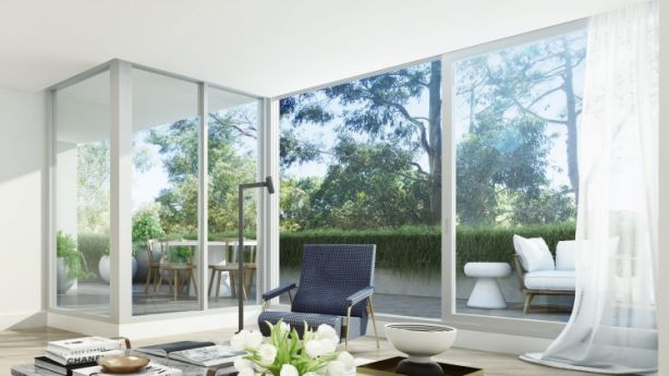 Artists' impression: AHURI research found downsizers want a change in lifestyle and no longer want to maintain a house or garden. Photo: Supplied