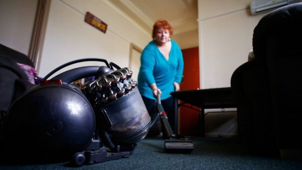 Sydneysider Norma Wannell got a first-hand taste of the cost of rent-to-buy schemes when she rented a vacuum cleaner. Photo: Daniel Munoz