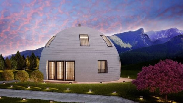 These Russian dome homes aren't threatened by even a large amount of snowfall. Photo: Skydome