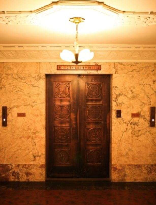 The elevator inside the building. Photo: Anu Kumar