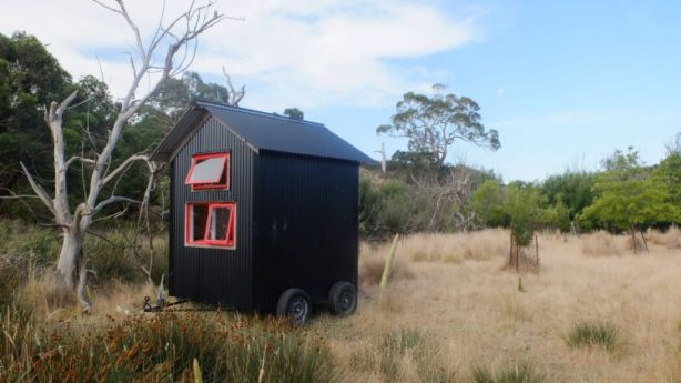 A prototype of the Shacky tiny house which will give holidaymakers a chance to experience life on a farm. Photo: courtesy of Shacky