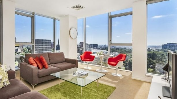 Sold after auction on Saturday, apartment 1303 at 31 Spring Street in Melbourne. Photo: Supplied