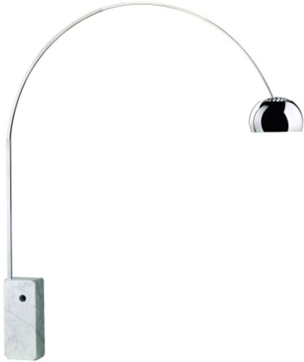 The classic Arco floor lamp designed by Achille and Pier Giacomo Castiglioni in 1962. Photo: supplied by Euroluce