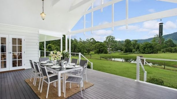 This Samford property is surrounded by rolling green hills and valleys. Photo: Supplied