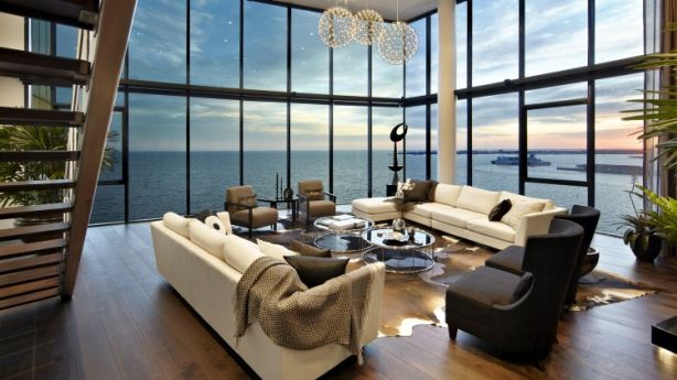 A world-class penthouse in Port Melbourne.