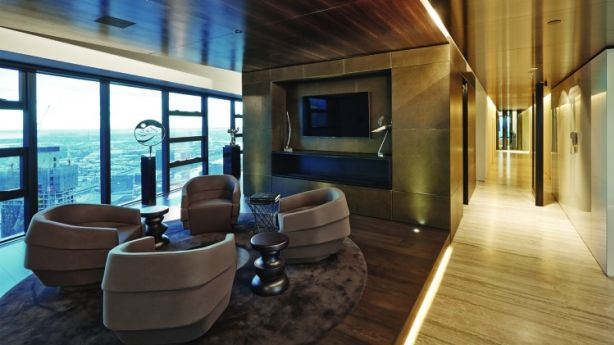 The Eureka skyscraper penthouse, E82, carried a $20 million price tag and was marketed to wealthy network around the world. Photo: Supplied