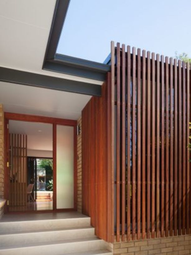 The redesigned Belrose House with its enclosed verandah. Photo: Katherine Lu