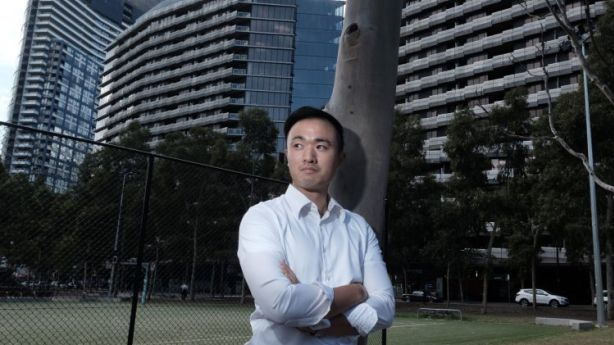 Boris Cheung managed to negotiate down the rent of a one-bedroom apartment in South Yarra because there are so many new apartments to choose from. Photo: Luis Ascui