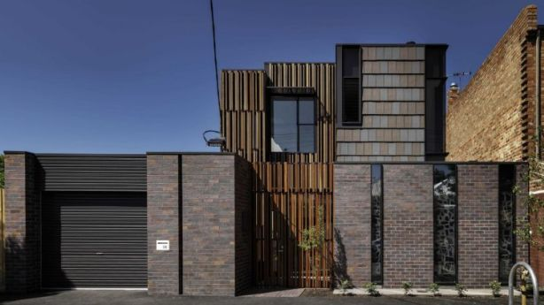 Philip Harmer had the concept of ''a series of piers of different widths'' in mind when designing this  North Fitzroy house. Photo: Supplied