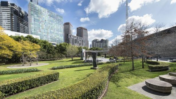Roof garden at the NGV. Photo: Supplied