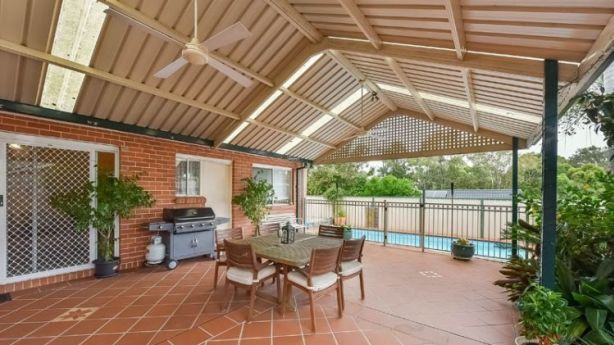 Selling agent Sue Parkes said the outdoor entertaining area is a real drawcard. Photo: Supplied