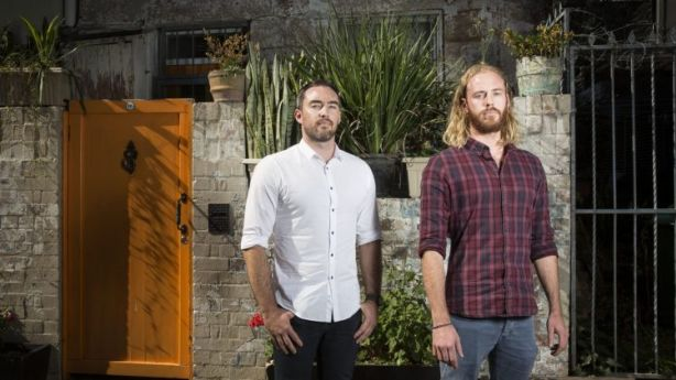 Luke Baker, left, and Joel Cacciotti have co-founded an Airbnb property management business HeyTom, which launched in April. Photo: Jessica Hromas