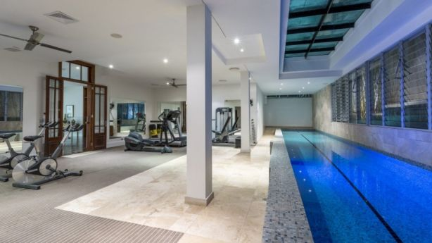 The home's impressive gym and two lane lap pool. Photo: Supplied