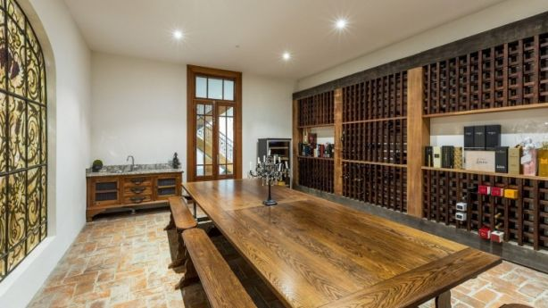 The wine cellar and tasting room can hold 1000 bottles of wine. Photo: Supplied