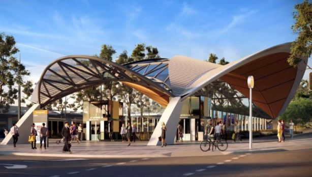 Artist's impression of Showground Station. Photo: Transport NSW