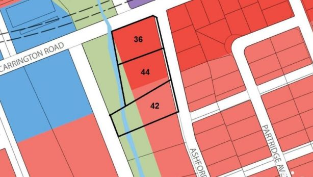 The three properties cover 10,600 square metres of development land. Photo: Guardian Realty Projects
