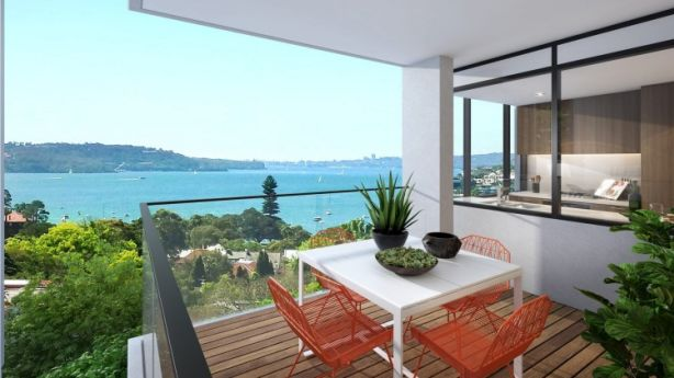 As well as district views, some apartments at The Thane, Edgecliff,  offer glimpses of Double Bay or Sydney Harbour. Photo: Supplied