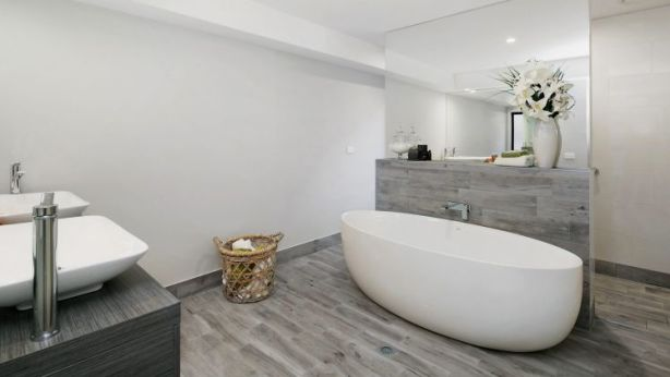 The bathroom at 5 Steep Street, Harrison. Photo: Supplied