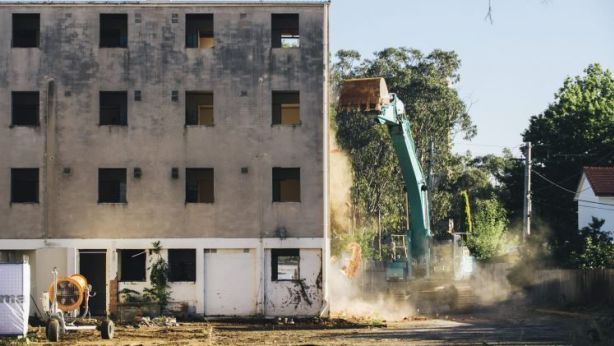 Demolition of the Dickson Towers began earlier this year. Photo: Rohan Thomson