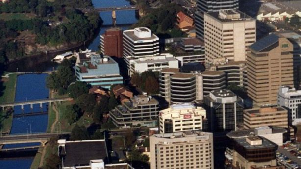 The skyline of Parramatta has rapidly changed in the building boom.