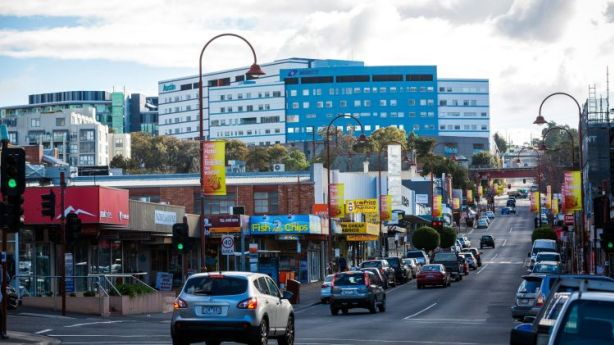 The main Burgundy Street shopping strip is full of contrasts. Photo: Chris Hopkins