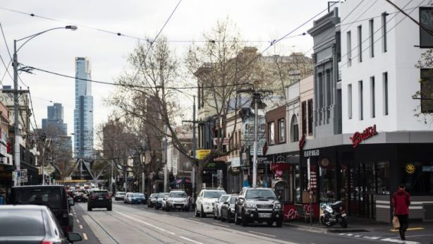 The burgeoning shopping strip along Swan Street, in Richmond. Photo: Josh Robenstone