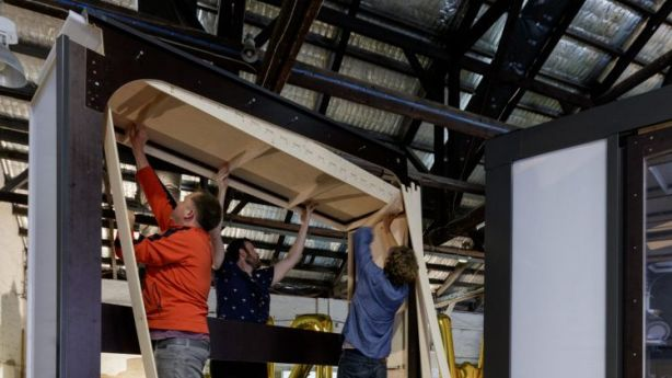 The tiny home can be put together with just a hammer and a screw driver in a couple of days. Photo: Barton Taylor