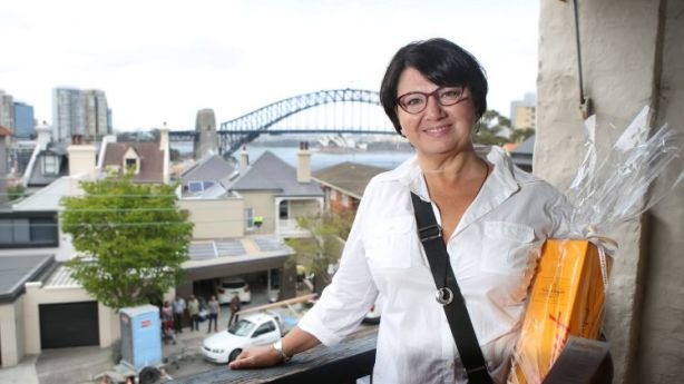 Snapped up: Buyer Dominique Cowle had only seen the Lavender Bay property four days before the auction. Photo: James Alcock